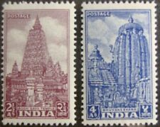 1951 INDIA #235-236: F/VF MNH 'Temples' Set of 2