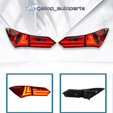 Pair Red Smoked LED Tail Lights Rear LH+RH For Toyota Corolla ZRE172 2014-2017