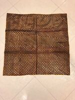 Antique Bokhara Silk Zari Boche Textile Panel Lined With Ikat