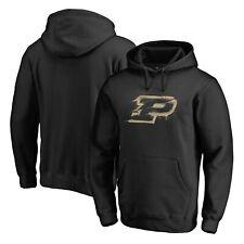 Purdue Boilermakers Fanatics Branded Splatter Logo Pullover Hoodie - Black