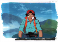 Golden Boy Anime Cel Douga Animation Art Kintaro on Bike Copy BG Lesson 2