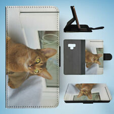 SAMSUNG GALAXY NOTE 9 FLIP CASE WALLET COVER|ABYSSINIAN CAT 2