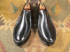 YUMA Florsheim  Black Leather Loafers size USA - 7.5 3E Extra wide(EE+)