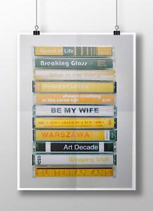 David Bowie Low - Print Cover Poster - Cassette Print - Bowie Fan, Bowie Gift