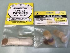 New Old Stock 200 Unlubricated Muzzleloader Cotton Patches .32 & .36 cal.