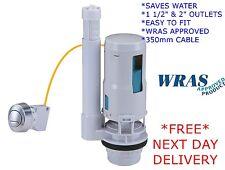 """Cable Universal Botón Pulsador Doble Descarga Inodoro Cisterna Válvula 1.5"""" - 2"""" WRAS"""
