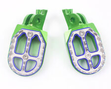 Green CNC Foot Pegs For Kawasaki KX250 2005-2007 KX250F 2006-2015 Bikes Footrest