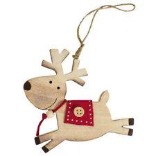 in legno da parete Renna Albero Di Natale ornamento–Decorazione–Pallina