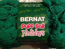 x1 Bernat Puff Ball Holidays Christmas  Pom Poms 3.5oz  Garland Green