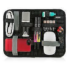 """Elasticity Grid It Gadget Organizer With Wrap Case For 10"""" Tablet"""