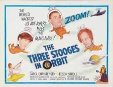 THE THREE STOOGES IN ORBIT Movie POSTER 22x28 Half Sheet Moe Howard Larry Fine