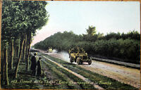 1906 Car/Auto Racing Postcard: French, 'Circuit de la Sarthe' #163