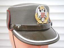 Serbia WOMEN officer hat, military cap,size 55 RARE silver ! Yugoslavia medal