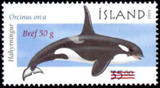 Iceland 2001 Whale, Marine Mammals 1999 Orca Surcharged, Mnh / Unm