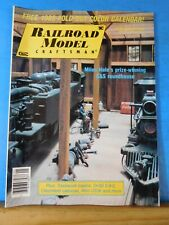 Railroad Model Craftsman Magazine 1985 January Trackwork basics Clinchfield cabo