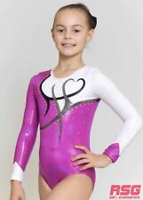 "RS Gymwear, Gymnastics Long-Sleeve leotard ""Whimsy Magenta"" (RSG-225) SALE"