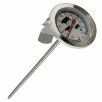 Stainless Steel Food Thermometer Gauge BBQ Meat Kitchen Probe. Cook Tempera V9N6