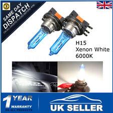 2X 55W H15 Xenon White Headlight Bulb DRL HID For AUDI/BMW/Ford VW GOLF MK6  -