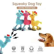 Funny Pet Cat Dog Puppy Chew Squeaker Squeaky Plush Sound Giraffe Training Toy