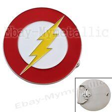Cool Super Hero The Flash LOGO Removable Metal Belt Buckle