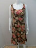 NOBUE JAPANESE FABRIC FLORAL PRINT DRESS SIZE 10   (#Q839)