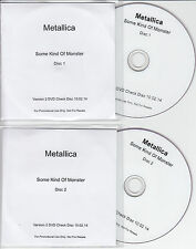 METALLICA Some Kind Of Monster 2014 UK promo test check disc 2-DVD