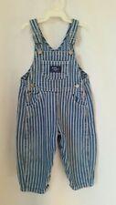 OshKosh B'gosh Vestbak Denim Overalls Baby Boy 18 Mo Stripes Vguc