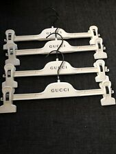 Gucci Set of 4 Ivory Felt Covered Plastic Non-Slip Pants Hangers with Clip 15""