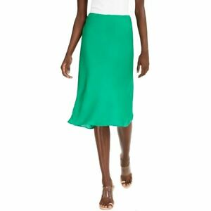 INC NEW Women's Solid Washed Satin Pull On Straight Skirt TEDO