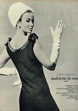 E- Publicité Advertising 1966 Pret à porter Jersey Couture Madeleine De Rauch