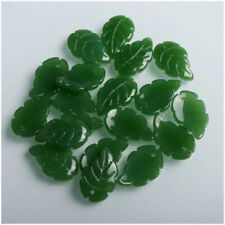 Jewelry Crystal Petals Loose Beads A5 10Pcs Glass Beads Green Glaze Diy Handmade