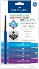 Faber-Castell Mix & Match BLUE GELATOS COLORS & CLEAR STAMPS Creamy Acid Free