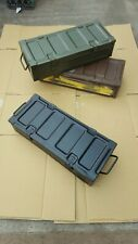 LANDROVER DEFENDER 4X4 EXPEDITION STORAGE BOX(metal with clasps )3 colour choice