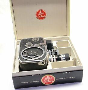 BOLEX B8L 8mm Filmkamera mit 2 Kern-Paillard Objektiven, Originalschachtel