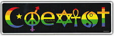 COEXIST BUMPER STICKER | Rainbow Style