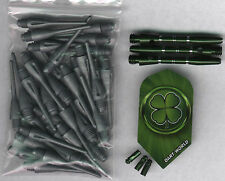 """Luck of the Irish"" Soft Tip Dart Upgrade Kit: Silver Tips, Green Shafts & More"