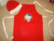 Holiday Childs Kids Cooking Apron & Hat Set New