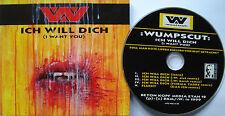 ⭐⭐⭐:WUMPSCUT: ⭐⭐⭐ ICH WILL DICH [ I WANT YOU ] ⭐⭐⭐ CD ⭐⭐⭐ MCD BKM ETAH 12 ⭐⭐⭐