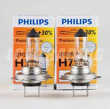 Philips Premium Halogen Headlight Bulbs H7 55W PX26d, X2 — 30% Brighter