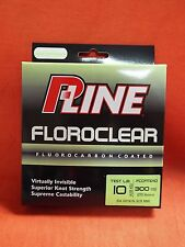 P-LINE Floroclear Fluorocarbon Coated Fishing Line 10lb (300yd) #FCCFMG-10 M.Grn