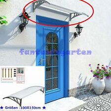 Vordach Überdachung Haustür Fenster Vordach Balkon Überdach Pultvordach Silbergr