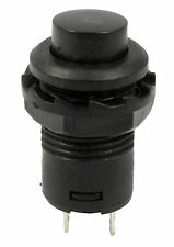 Black Off(On) Momentary Push Button Switch Horn Doorbell Car Dash 12V