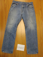 used Levis 501 destroyed feathered USA grunge jean tag 38x36 meas 34x32.5 17500F