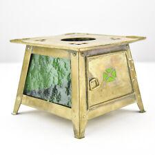 Art Nouveau Brass Teapot Warmer Jan Eisenloeffel attr. Secessionist Arts Crafts