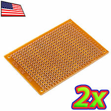 [2x] 5 x 7 cm DIY PCB Prototype Circuit Solder Breadboard Protoboard Veroboard
