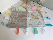 Handmade sensory ribbon Taggie/ blanket Guess How Much I Love You Personalised