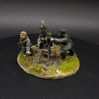 Painted 28mm Bolt Action german medium mortar team #2