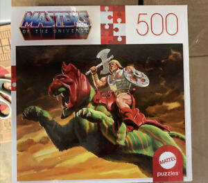 MASTERS OF THE UNIVERSE He-man On Battle Cat 500 Piece Jigsaw Puzzle Mattel 2020
