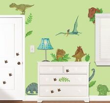 IN DINOSAUR LAND GiaNT WALL DECALS 37 New Dinosaurs Stickers Boys Room Decor