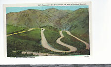 Double Hairpins On Road To Lookout Mountain  Denver CO     1950   Postcard 8264